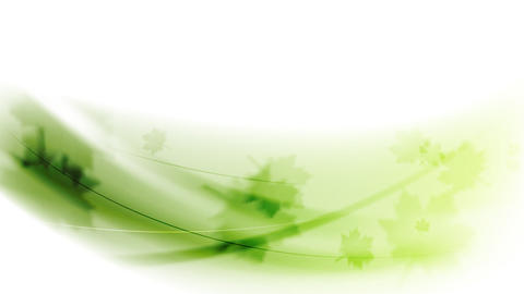 Green leaves and waves video animation Animation