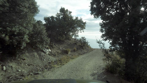Offroad up to 2700m with a Jeep Wrangler, Andalusia, Spain Live Action
