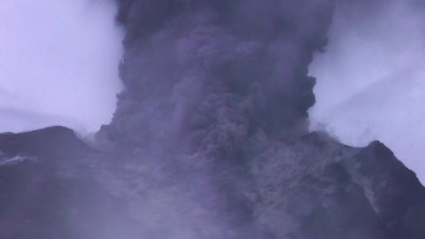 extremely violent volcanic eruption of Tungurahua volcano Footage