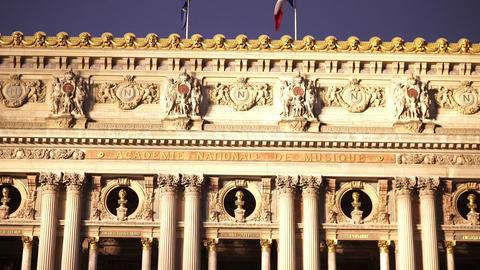 Wonderful Opera Garnier building in Paris Footage