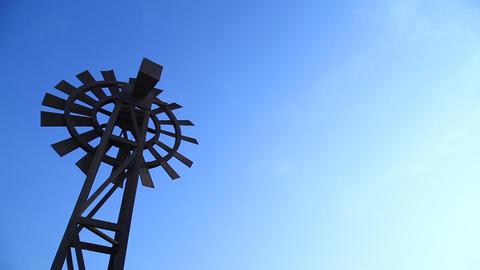 windmill in desert Footage