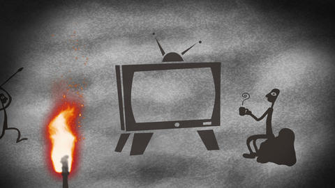 TV Cave art Animation