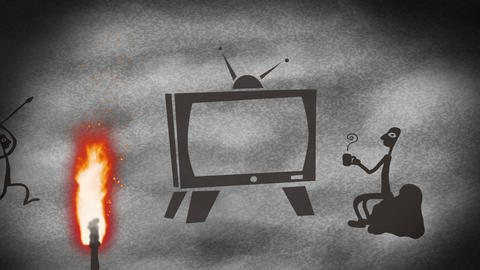 TV Cave art Stock Video Footage