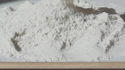 Pour A Heap Of Flour Slow Motion stock footage