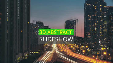 3 D Abstract Slideshow After Effects Project