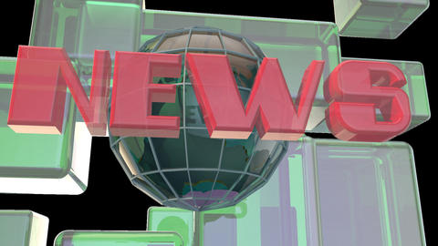 Broadcast News Earth Globe Opening Intro Title Animation 0