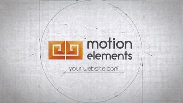 Blueprint Architect Logo Reveals After Effectsテンプレート