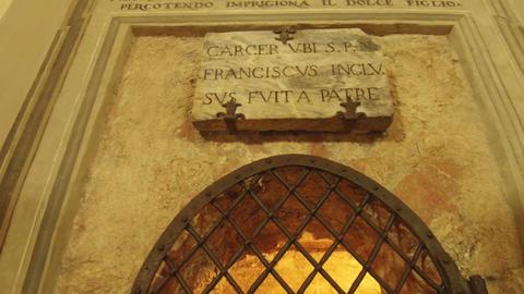 tracking shot prison San Francesco, Assisi Footage