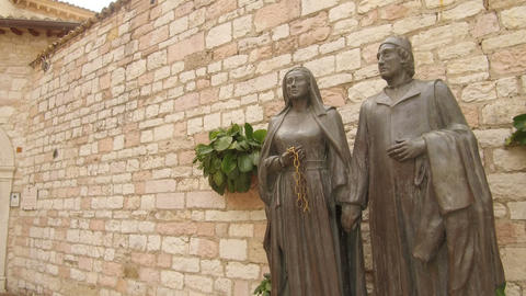 parent statue of St. Francis, Assisi Footage