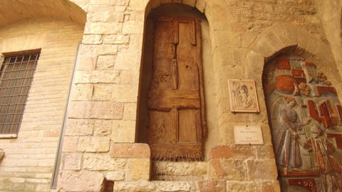 Saint Francis home door, Assisi Footage