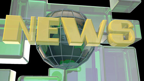 Broadcast News Earth Globe Opening Intro Title Animation 1
