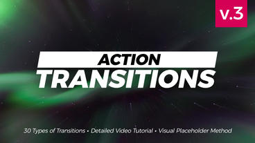 Action Transitions Premiere Pro 템플릿