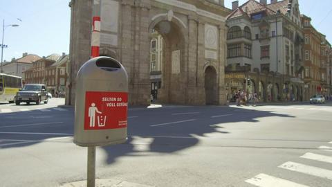 garbage basket, Innsbruck Footage