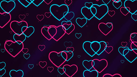 Valentine's Day Abstract Background Stock Video Footage