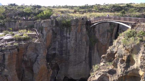 The canyon below Bourke's Luck pot holes bridge Live Action