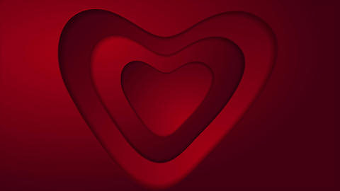 Abstract red heart St Valentines Day video animation Animation