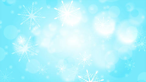 Abstract blue and white bokeh Christmas motion background Animation