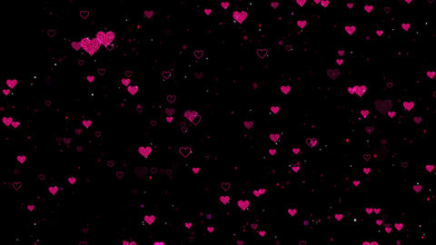 Hearts Overlay Seamless Loop Animation