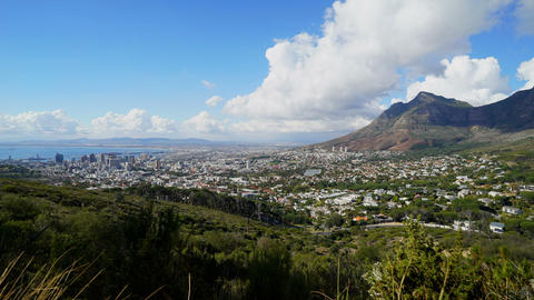 Time lapse pan of the clouds over Cape Town Footage