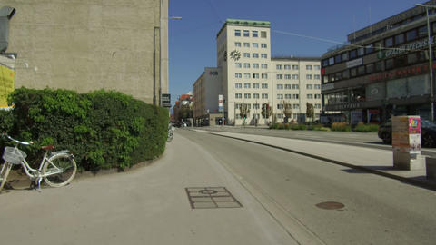 modern building near triumphal arch, Innsbruck Footage