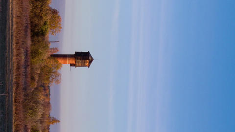 Vertical video. Dawn over the autumn landscape. Time Lapse Footage