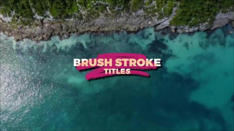 Brush Stroke Titles Premiere Pro Template