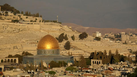 Day to night time lapse of the Dome of the Rock Footage