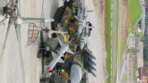 Vertical video. Machinery air defense. Pyshma, Ekaterinburg, Russia Live Action