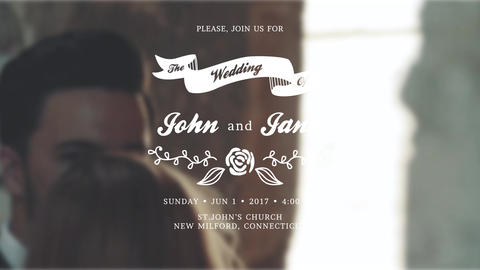 Wedding Invitations After Effects Template
