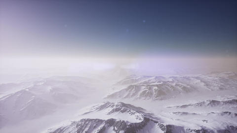 Aerial view of Arctic landscape and mountain range Footage
