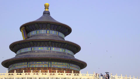 Visitors to the Temple of Heaven Footage
