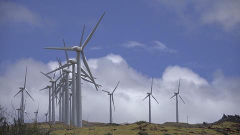 Maalaea, Maui Wind power turbine farm 영상물