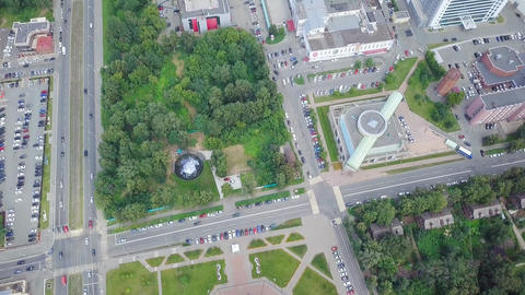 Cathedral of the Holy Archangel Michael. Izhevsk, Russia, From Dron Footage