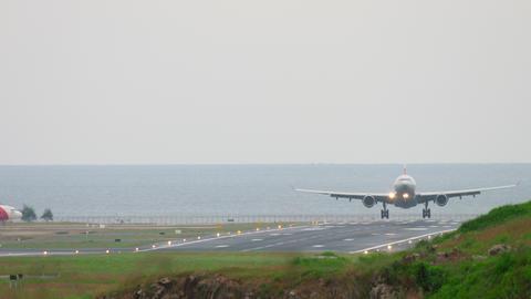 Airplane Airbus A330 landing Footage