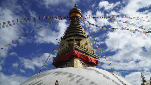 Swayambhunath or Monkey temple Footage