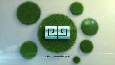 Logo in the grass After Effects Template