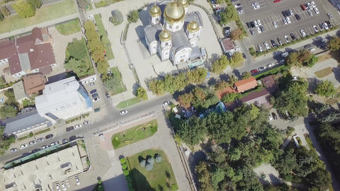 The military Cathedral of the Holy Prince Alexander Nevsky. City of Krasnodar, Footage