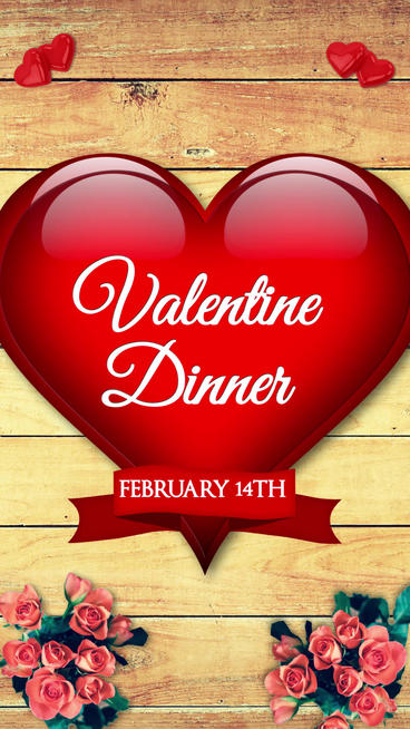 Restaurant Valentine Dinner(Vertical) Plantilla de After Effects