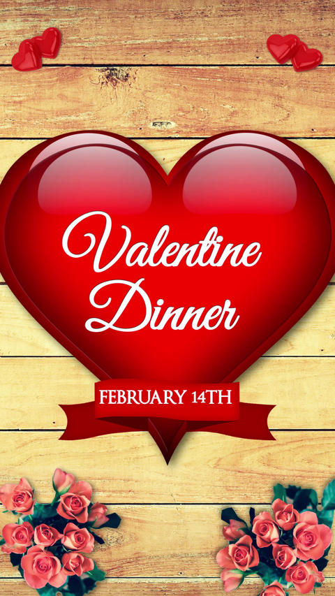 Restaurant Valentine Dinner(Vertical) After Effects Template