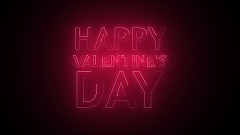 Happy Valentine's Day Text in neon Photo