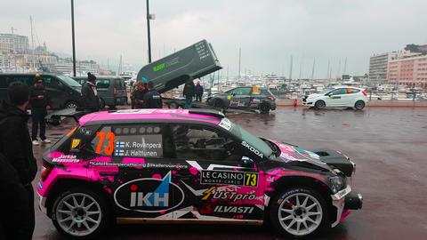 Skoda Fabia R5 WRC2 Rallye Monte-Carlo Footage