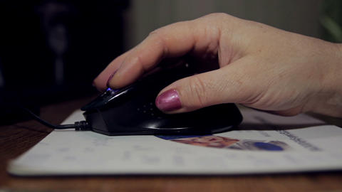 Close-up of woman hand with mouse Footage