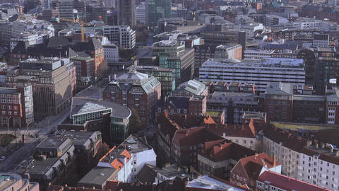 City of Hamburg from above - HAMBURG, GERMANY DECEMBER 23, 2015 Footage