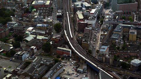 British Railway aerial shot Live Action