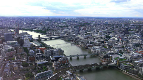 London from above aerial shot Live Action