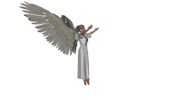 angel in a pose of prayer Animation