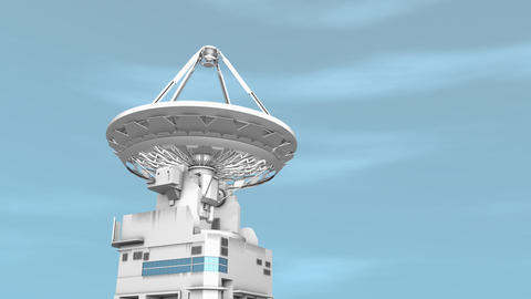 Radio telescope, communication facility Animation