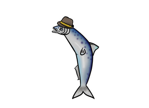 Sardine singing with a hat on Animation