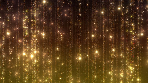 Particle Rain b fast 1t gold 4 K CG動画素材