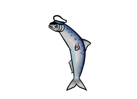 Sardine with jaunty sailors hat Animation